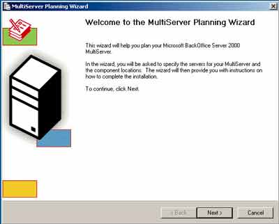 Figure 4. The MultiServer Planning Wizard lets you burden multiple servers with the job of running BackOffice Server 2000.