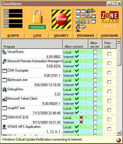 ZoneAlarm allows for individual protection settings for each application you use.