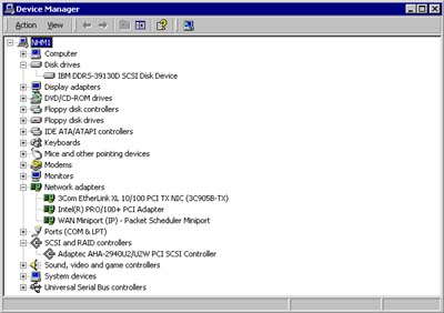 Figure 4. Hail to Hardware Manager in Win2K. Truly this is another cool tool.