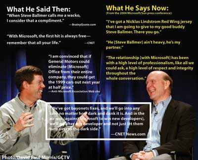 Scott McNealy and Steve Ballmer