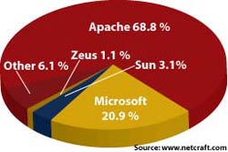 Apache Dominates the Web Pie Chart