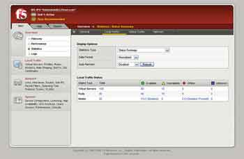 Figure 3. Big IP uses a Web interface for configuration.