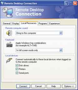 RDP 5.1 clients can connect to disk drives