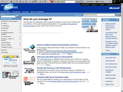 TechNet Home Page