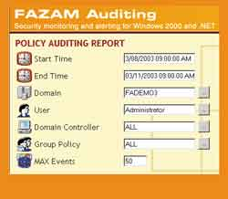 Fazam's Auditing Reporter Console