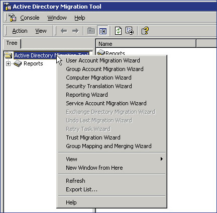 ADMT migration options