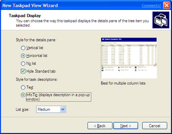 Step 4 Launch the New Task Wizard.