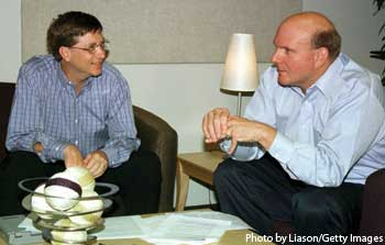 Bill Gates with Steve Ballmer.