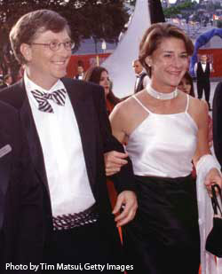 Bill Gates with his other love -- Melinda.
