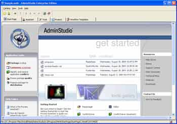 Figure 3. AdminStudio's Quick Start Guide.