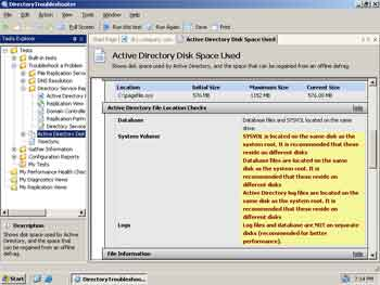 Figure 1. Directory Troubleshooter.