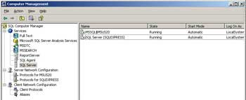 Figure 1. The SQL Computer Manager snap-in.